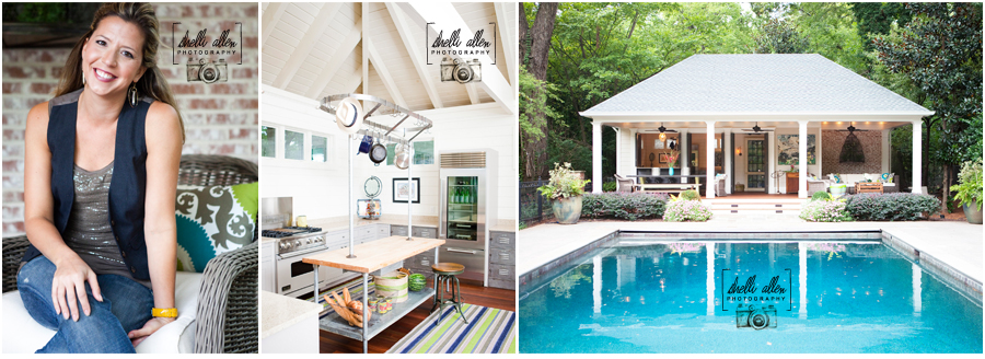Alton Brown Pool House: Boxtree Designs, Shelli Allen Photography